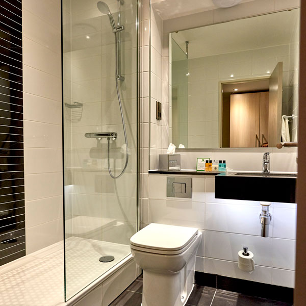 Our brand new, modern, bathrooms equipped with power showers.